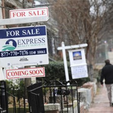 File photo shows houses for sale in Washington