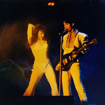 Image: Mayte Garcia and Prince perform on stage