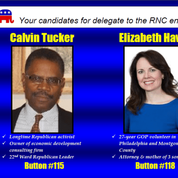 Image: A mailer showing candidates for delegates to the the RNC