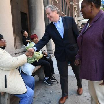 Chris Van Hollen Campaigns At Johns Hopkins University Hospital