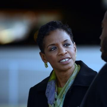 LARGO, MD - APRIL 14: Congresswoman Donna Edwards (D-MD) kicks