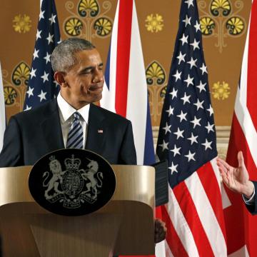 Image: U.S. President Barack Obama and British Prime Minister David Cameron