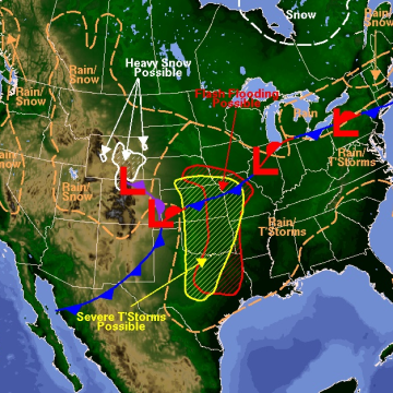 IMAGE: Forecast map for Tuesday