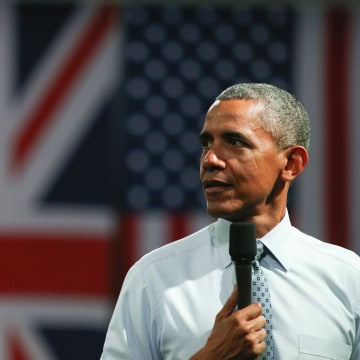 Image: Barack Obama in London on April 23, 2016