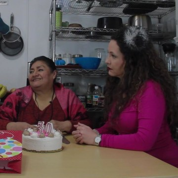 """Actresses Amalia May Valle (right), Teresa Yenque (center), Natasha Yannaca?edo (left) on the first episode of the web series, """"Without a Hitch."""""""