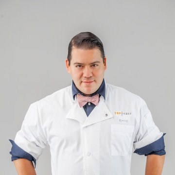 "Katsuji Tanabe, half-Japanese and half-Mexican kosher chef, on ""Top Chef Mexico."" Tanabe operates one kosher restaurant with plans on opening two more."