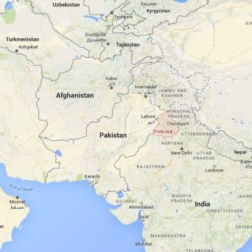 Image: Map showing India's Punjab state