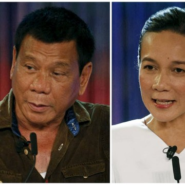 Image: A combination photo shows Philippine presidential candidates
