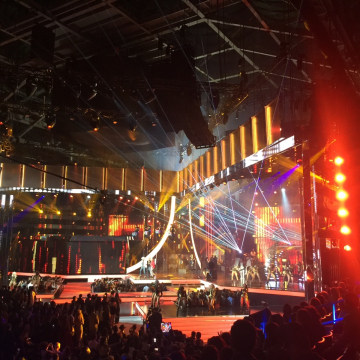 Carmen Pelaez's view of the 2016 Latin Billboard Awards stage.