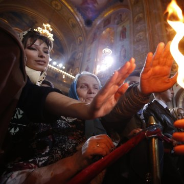 Image: Orthodox Easter celebrations in Moscow