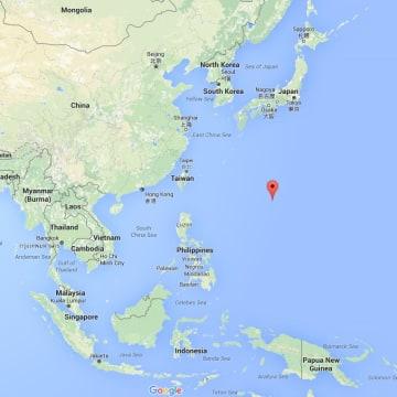 Image: Map showing Okinotori