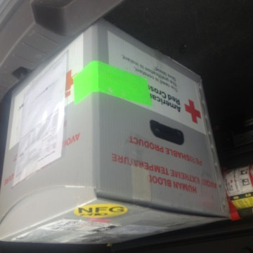 IMAGE: Red Cross blood box
