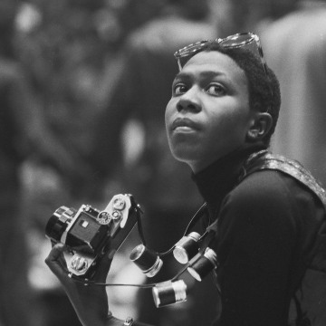Afeni Shakur With Camera