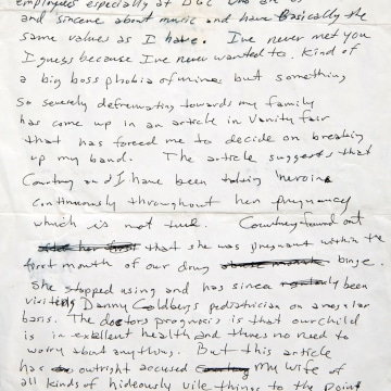 Lennon s Handwritten Lyrics Cobain s Angry Note up for Auction