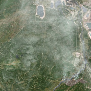 IMAGE: Fort McMurray fire satellite image