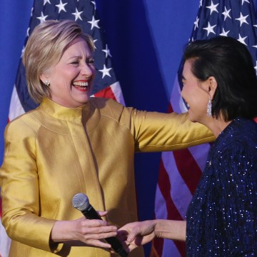 Image: Democratic Candidate For President Hillary Clinton Speaks To The APAICS Conference