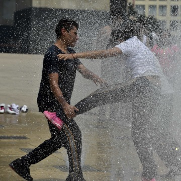 Image: MEXICO-ENVIRONMENT-POLLUTION-HEAT-WAVE