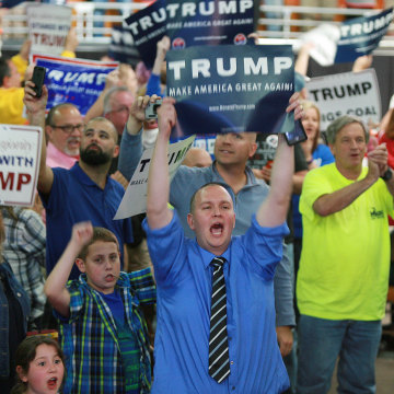 Image: Donald Trump supporters in Charleston, W.Va.