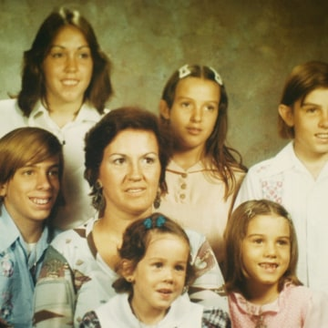 My mother Mercedes and all the children.