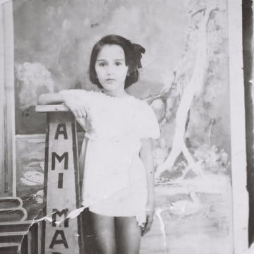 Patricia's mother Mercedes as a young girl in a Mother's Day photo for her own mother. Caguas, Puerto Rico