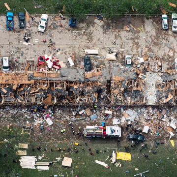 IMAGE: West, Texas, explosion aftermath