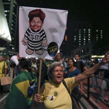 Demonstration against Brazilian President Rousseff in Sao Paulo