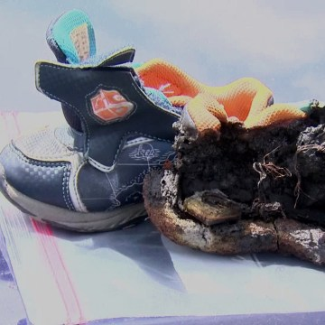 IMAGE: Burned shoes