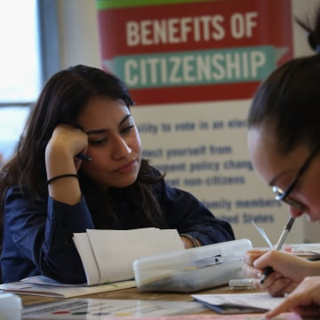 Image: Immigrants Apply For US Citizenship In Increasing Numbers During Election Year