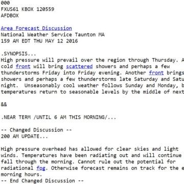 IMAGE: New NWS forecast