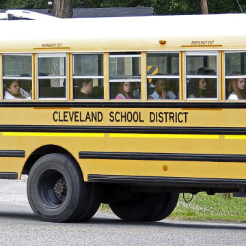 Image: An integrated group of Cleveland, Miss., public school students in 2015
