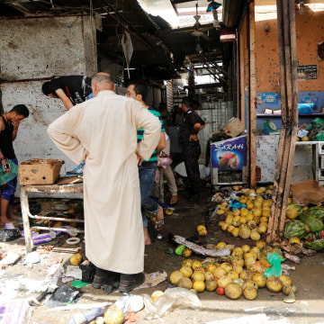 Image: The aftermath of a bombing in a marketplace in Baghdad