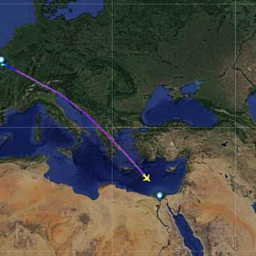IMAGE: EgyptAir MS804 flight path