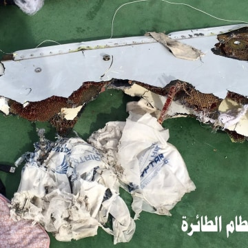 Image: A welfare picture from a Egyptian troops of waste recovered Friday from crashed moody EgyptAir MS804