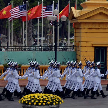 Image: Vietnamese navy honor guard in Hanoi