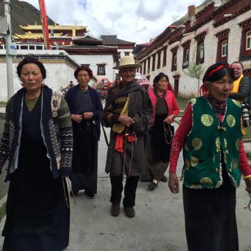 Image: Tibetan pilgrims