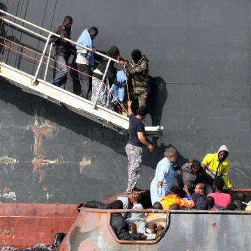 Image: LIBYA-EUROPE-MIGRANTS