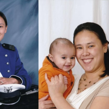 "Photos of Victoria ""Tory"" Pinckney and her son."