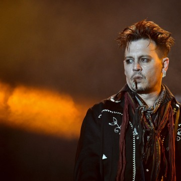 Johnny Depp, guitarist of the Hollywood Vampires, performs at the Rock ...