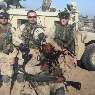 IMAGE: Evan Cole with his unit