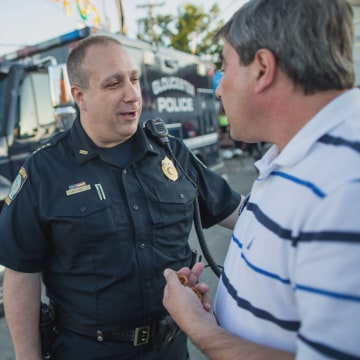 Image: Gloucester Chief of Police Leonard Campanello on the job.