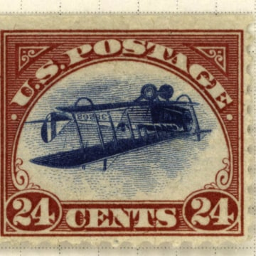 Image: Inverted Jenny stamp