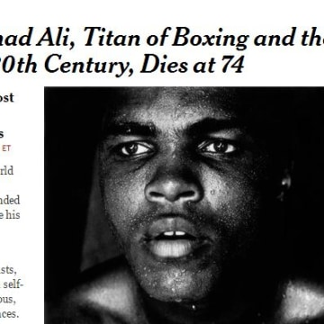 Image: Muhammad Ali was praised for his stature as a global figure, not just a sportsman.
