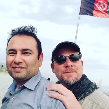 IMAGE: Zabihullah Tamanna and David Gilkey