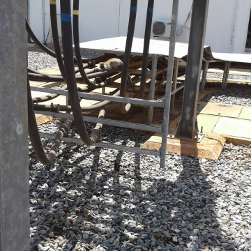 Image: KenGen posted a photograph of what appears to be a vervet monkey crouching on top of electrical equipment.