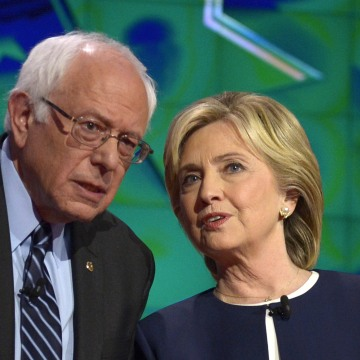 Image: Bernie Sanders and Hillary Clinton
