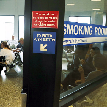 Image: Salt Lake City International Airport smoking room