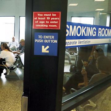 Image: Salt Lake City International Airport smoking room