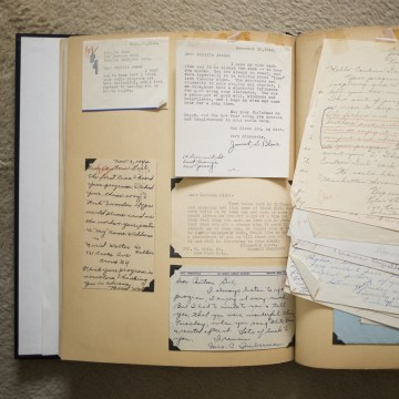 Image: 'Canteen Girl' scrapbook with fan letters