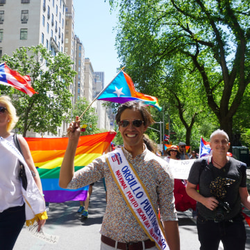 LGBT activist Pedro Julio Serrano, the Orgullo Puertorrique?o honored at the parade.