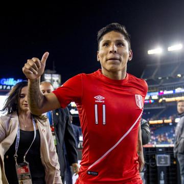 Peruvian goal scorer Raul Ruidiaz pictured after historic win vs. Brazil